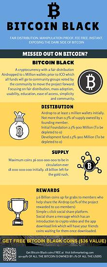 Get Bitcoin Black coins FREE | www.BITHmarketing.com