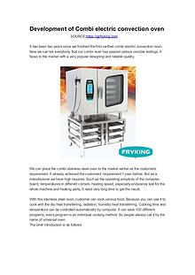 Development of Combi electric convection oven