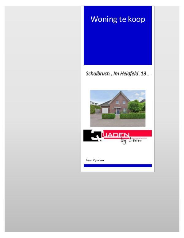PresentatieBOEKJE Duitsland Schalbruch Im Heidfeld 13 PresentatieBOEKJE Duitsland  Schalbruch  Im Heidfe