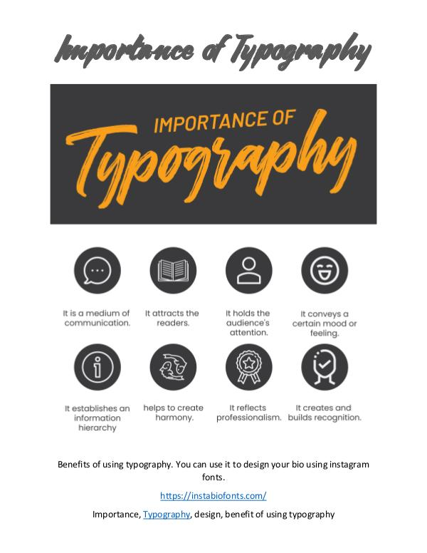 Importance of Typography Importance of Typography