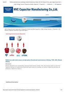 Référence alternative pour condensateur Doorknob haute tension