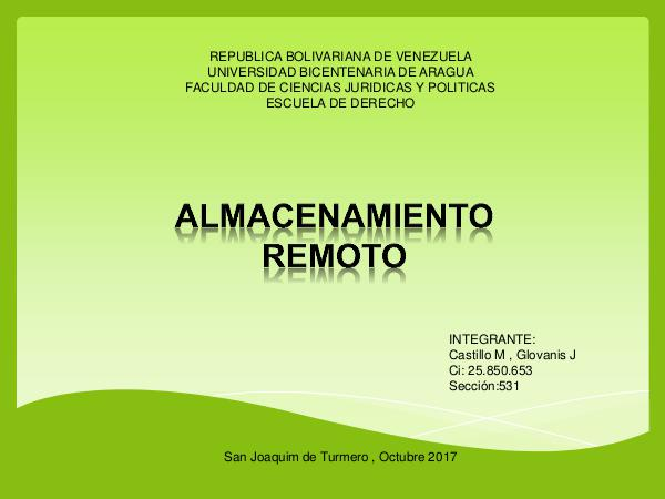 Almacenamiento remoto REVISTA CI.V25.850.653