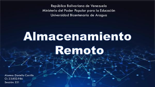 Revista digital, almacenamiento remoto. 23802986, Daniella Carrillo Revista 23802986