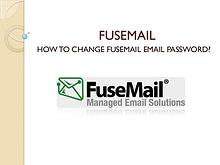 how to change fusemail password?