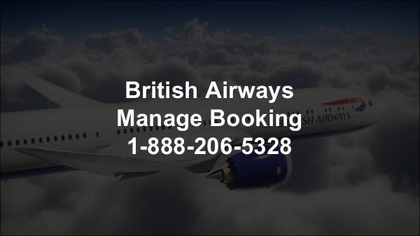 British Airways Manage Booking 1-888-206-5328 British Airways online Booking