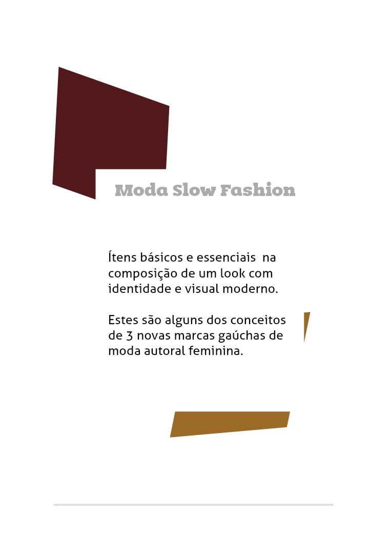 Moda Slow Fashion Edição 01