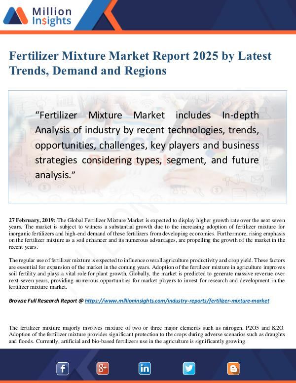 Fertilizer Mixture Market Size Analysis, Segmentat