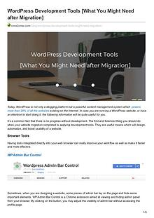 Migration Tips