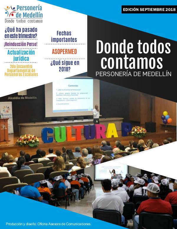 DONDE TODOS CONTAMOS Donde todos contamos - Edición septiembre