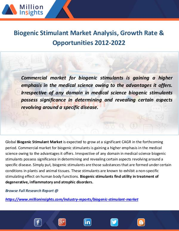 Industry and News Biogenic Stimulant Market Analysis, Growth