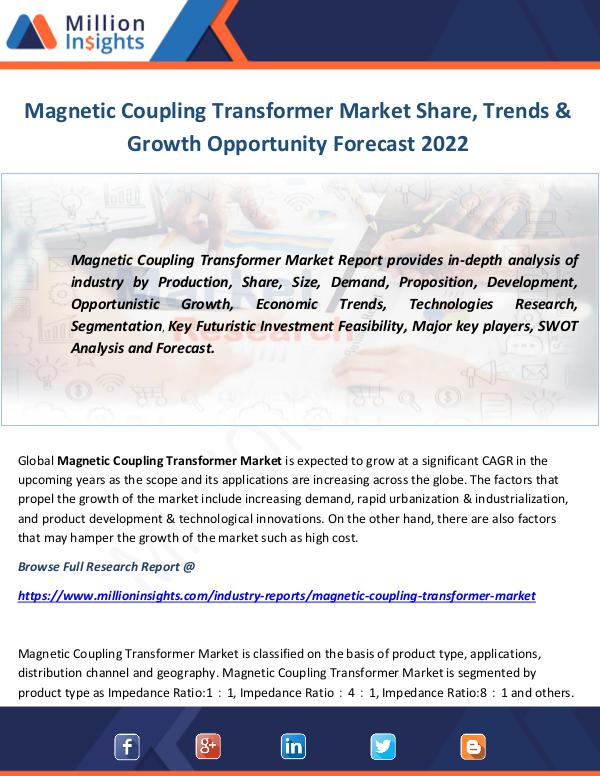 Industry and News Magnetic Coupling Transformer Market