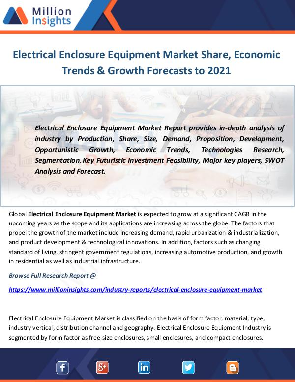 Industry and News Electrical Enclosure Equipment Market