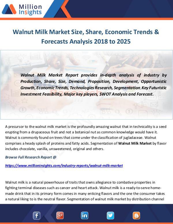Industry and News Walnut Milk Market