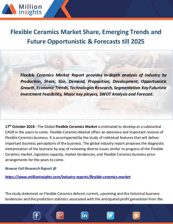Industry and News Flexible Ceramics Market