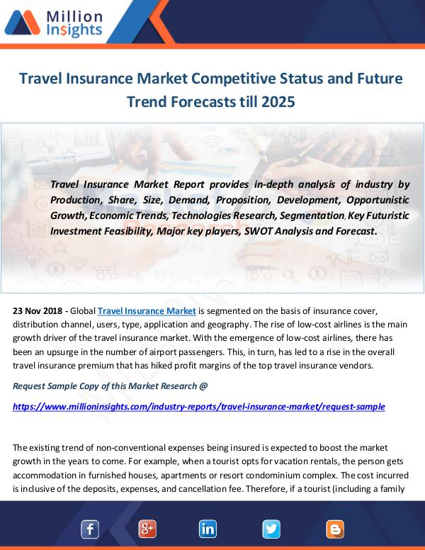 Industry and News Travel Insurance Market
