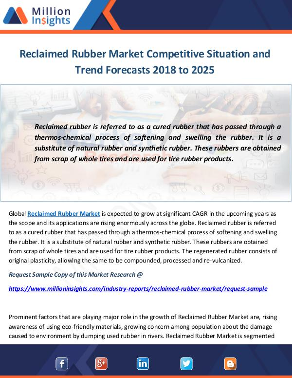 Industry and News Reclaimed Rubber Market