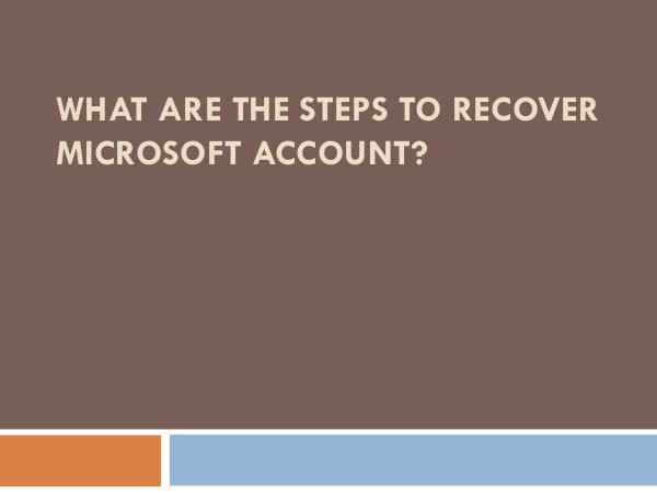 What Are The Steps to Sync a Hotmail Account on an iPad What Are The Steps to Recover Microsoft Account