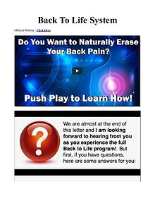 Erase My Back Pain Emily Lark / The Complete Healthy Back System