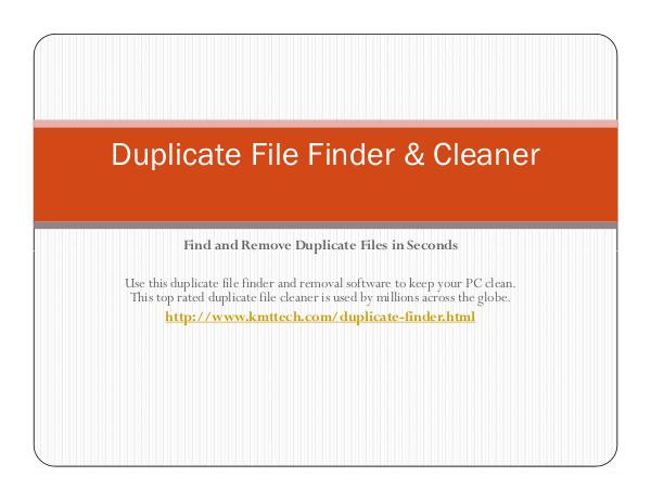 KMTTECH.COM Duplicate File Finder & Cleaner