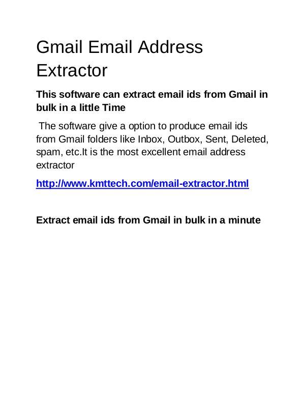 KMTTECH.COM Gmail Email Address Extractor