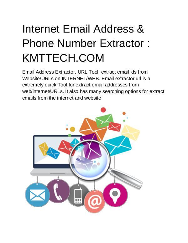 Internet Email Address & Phone Number Extractor