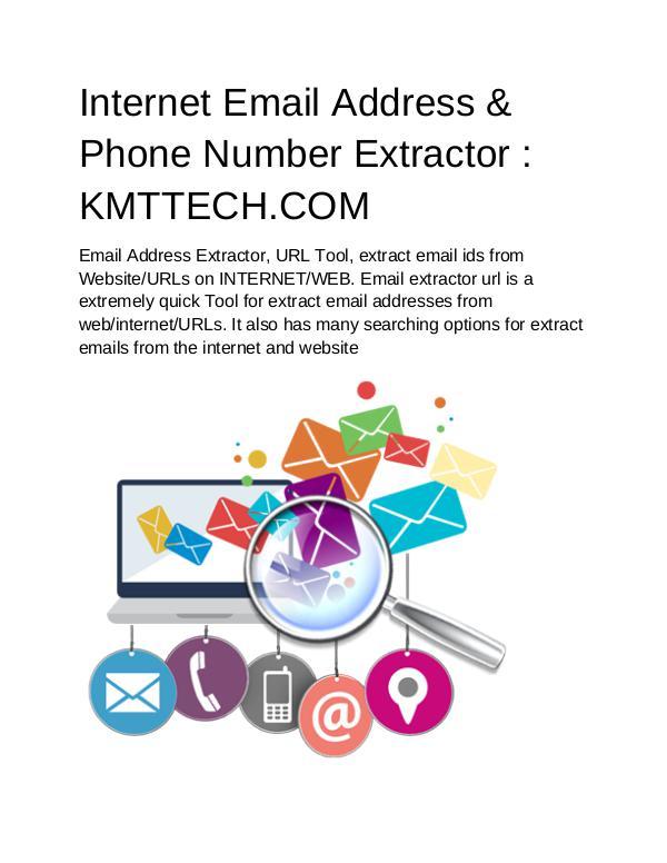 KMTTECH COM Internet Email Address & Phone Number Extractor