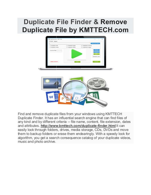KMTTECH.COM Duplicate File Finder