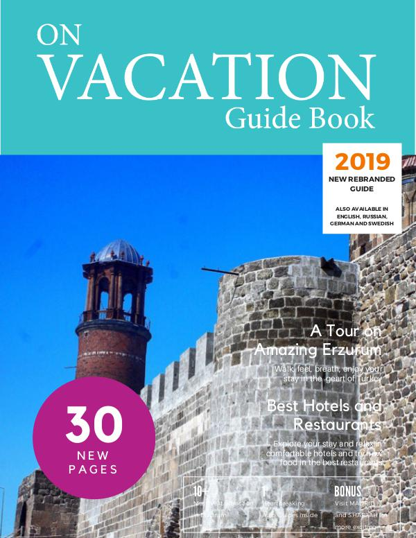 On Vacation Guide Book Erzurum