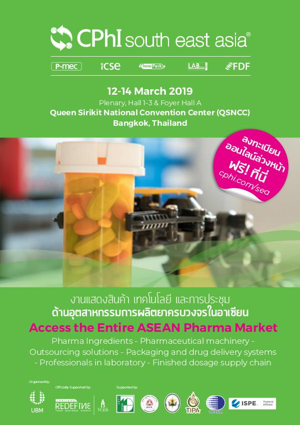 CPhI South East Asia Visitor Invitation To CPhI South East Asia 2019