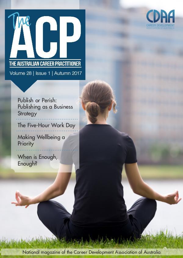 Australian Career Practitioner Magazine Autumn 2017