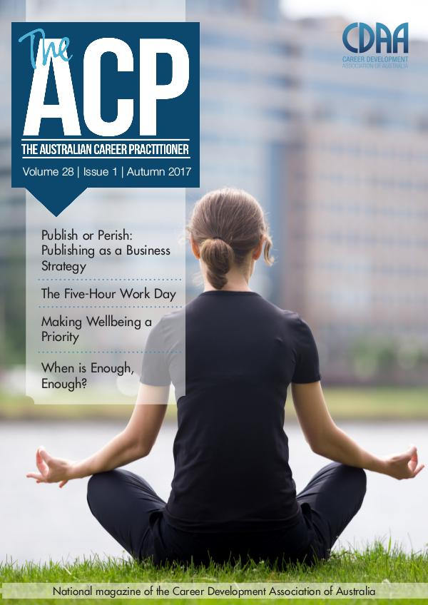 Australian Career Practitioner Magazine Autumn 2017