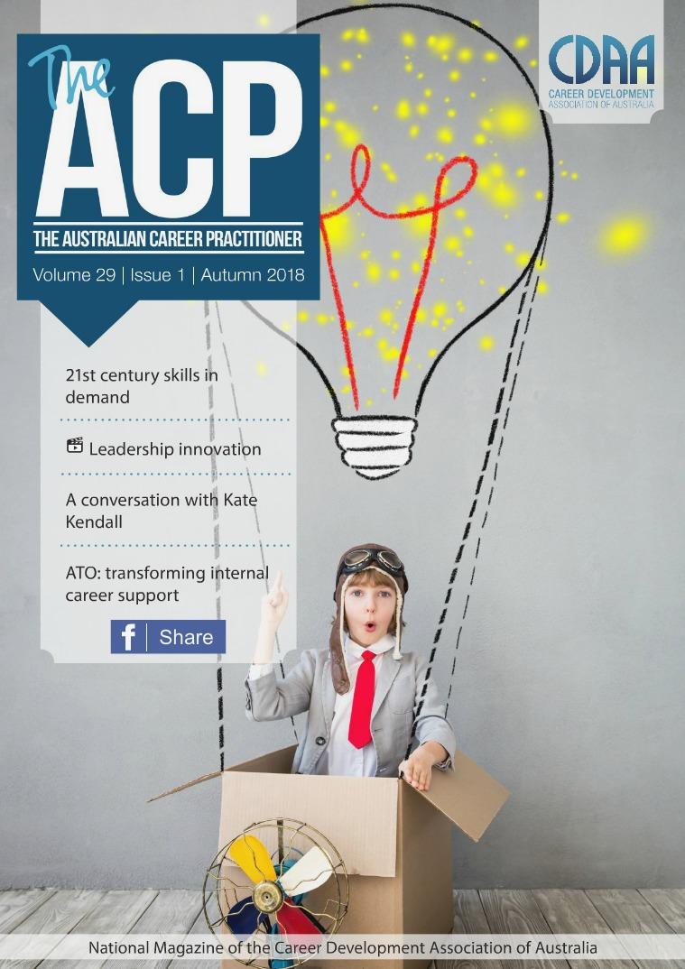 Australian Career Practitioner Magazine Autumn 2018
