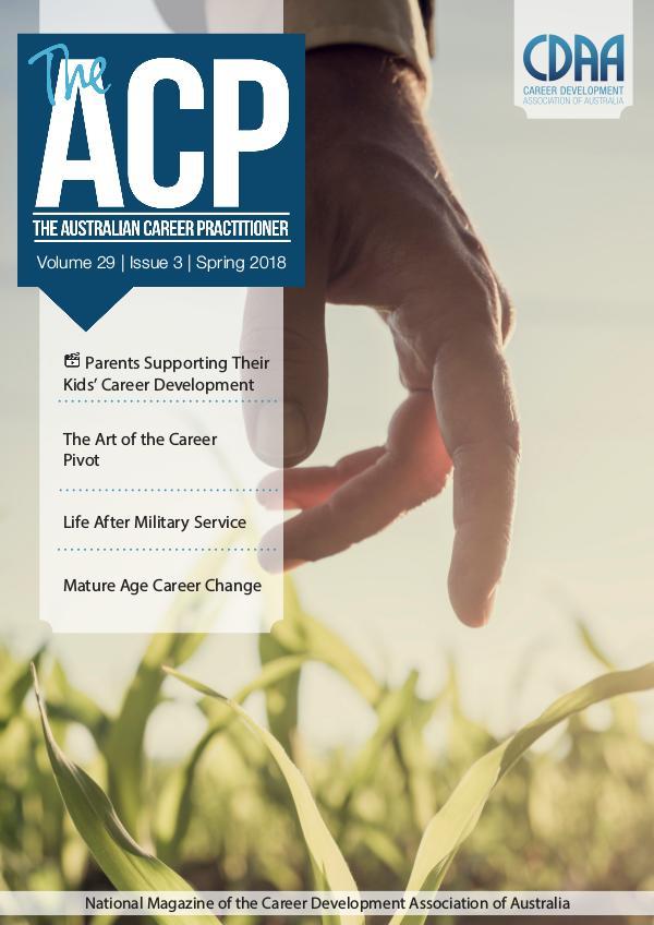 Australian Career Practitioner Magazine Spring 2018