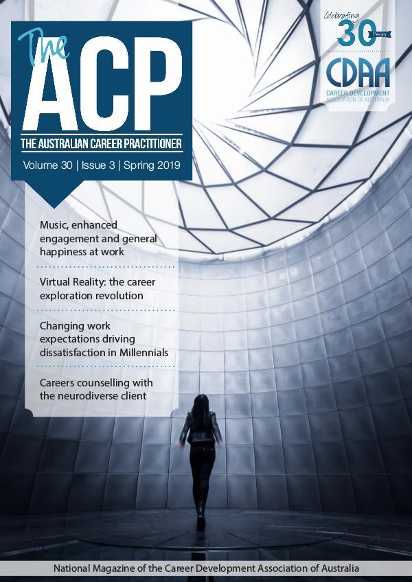 Australian Career Practitioner Magazine Spring 2019