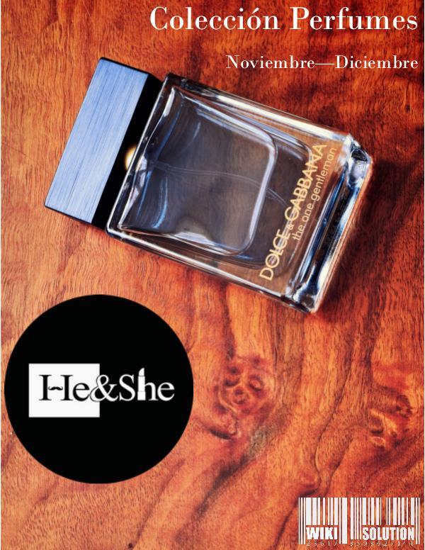 HE&SHE perfumes colección noviembre diciembre