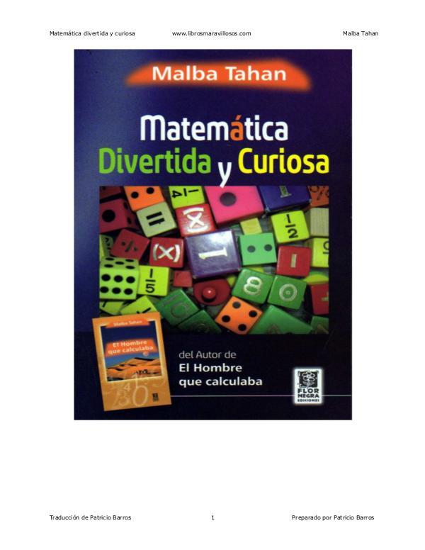 MATEMATICAS Matematica divertida y curiosa - Malba Tahan