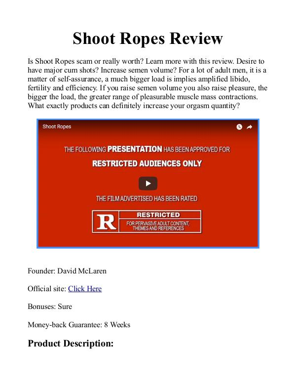 Shoot Ropes PDF / Book By David McLaren Free Download Shoot Ropes eBook