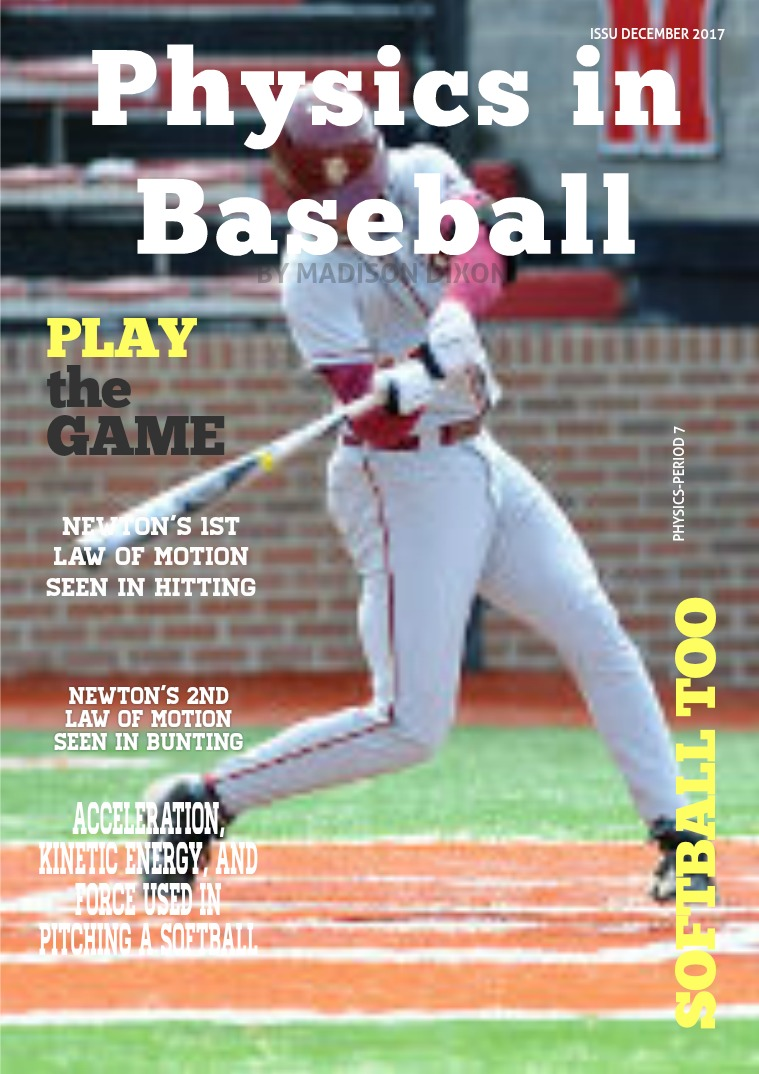 Physics in Softball/Baseball Physics LESSON
