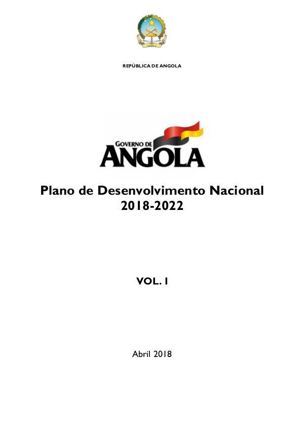 Plano de Desenvolvimento Nacional 2018-2022 PDN 2018-2022_MASTER_vf_Volume 1_13052018