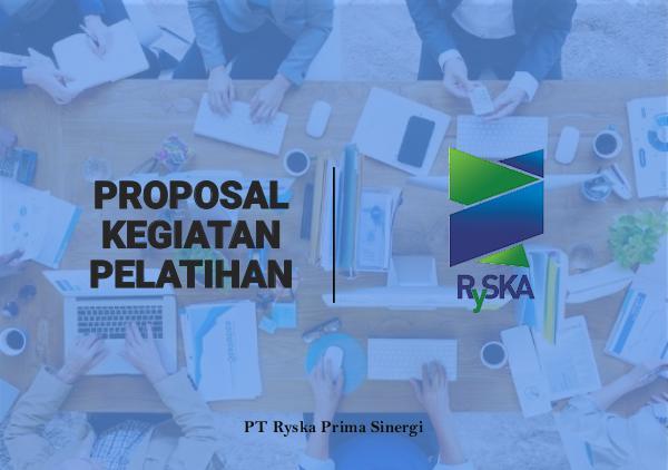Proposal Kegiatan Pelatihan Proposal Kegiatan Pelatihan