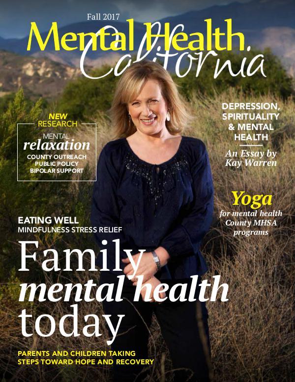 Fall 2017 Mental Health California Magazine Fall 2017
