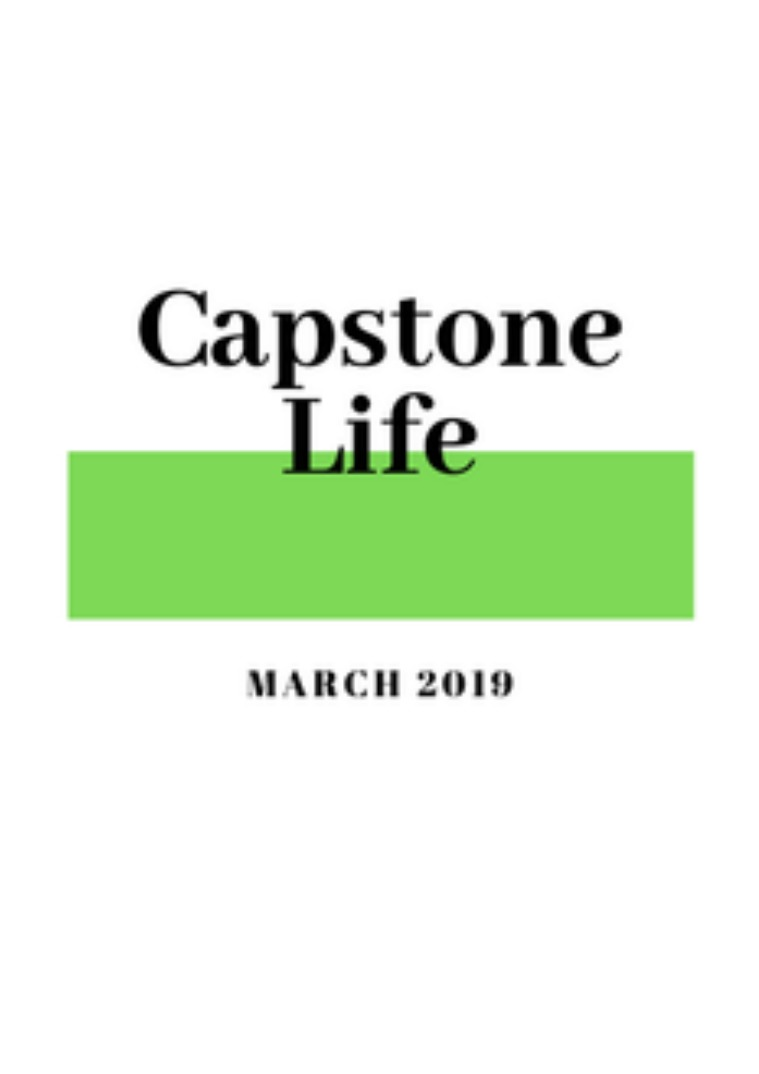 #CapstoneLife Newsletter March 2019