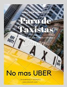 Revista paro taxistas