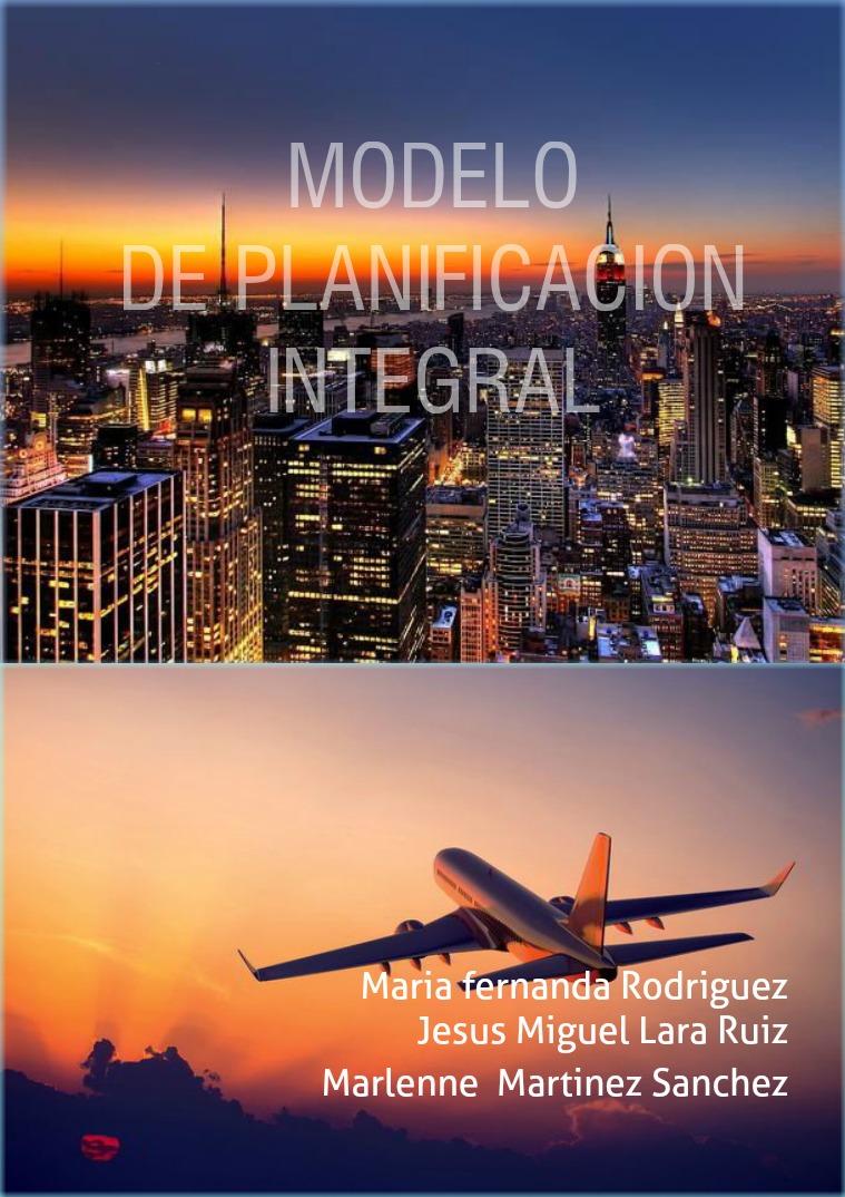 Modelo de integración planificación PLANIFICACIÓN TURÍSTICA
