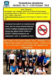 Crawshaw Academy Ebulletins
