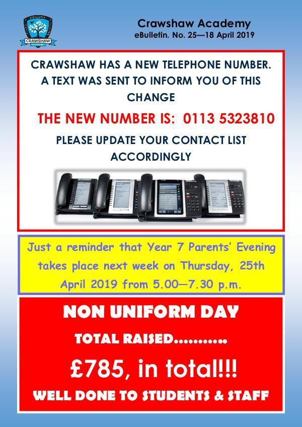 Crawshaw Academy Ebulletins EB25 18 04 19