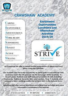 Crawshaw Extra curricular Activities