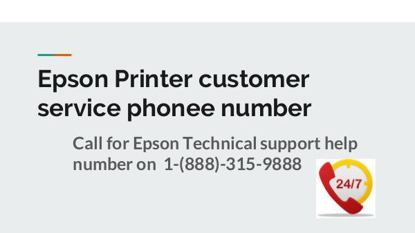 Epson Printer Customer service phone number Epson Printer toll free number