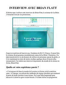 La Diète 2 Semaines PDF / Livre Télécharger Gratuit Brian Flatt
