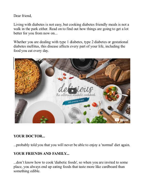Ultimate Delicious Diabetic Cookbook Pdf Recipe Free Download